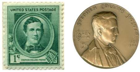 Stephen Foster Stamp and Coin